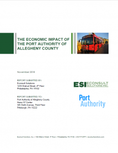 economic impact port authority of allegheny county