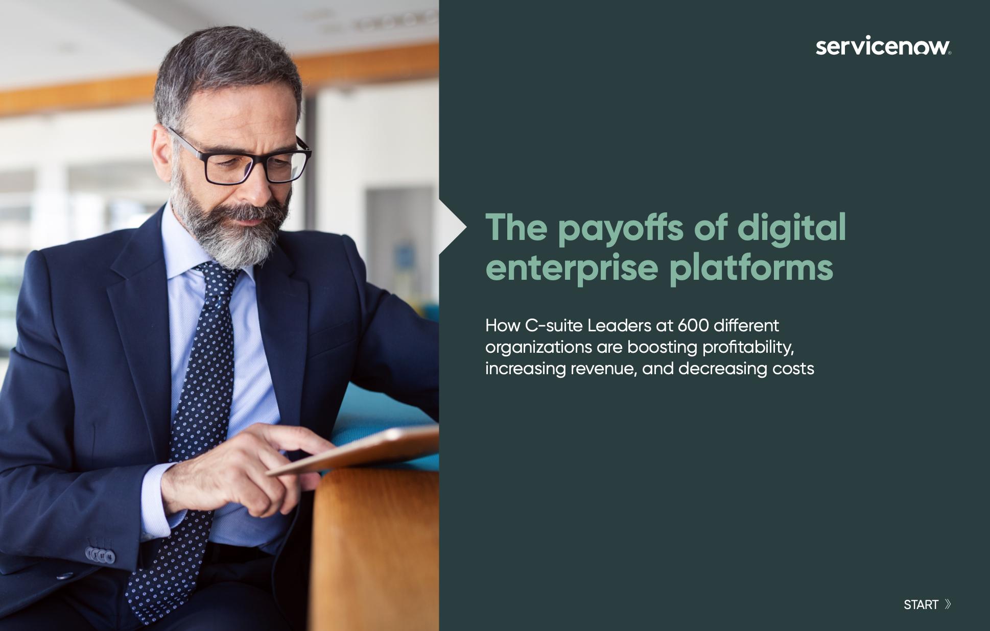 Payoffs of Digital Enterprise Platforms cover